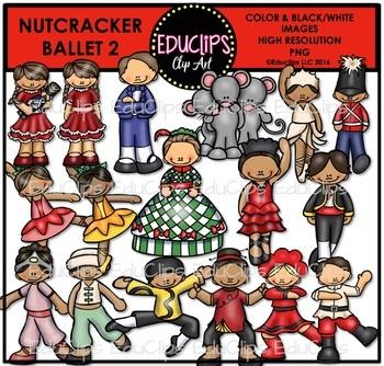Nutcracker Ballet 2 Clip Art Bundle {Educlips Clipart}.