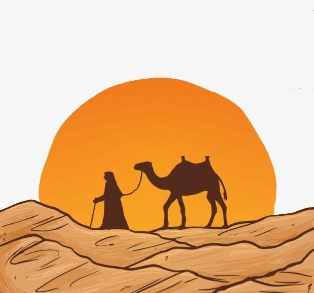 Desert PNG, Clipart, Camels, Cartoon, Desert, Desert Clipart.
