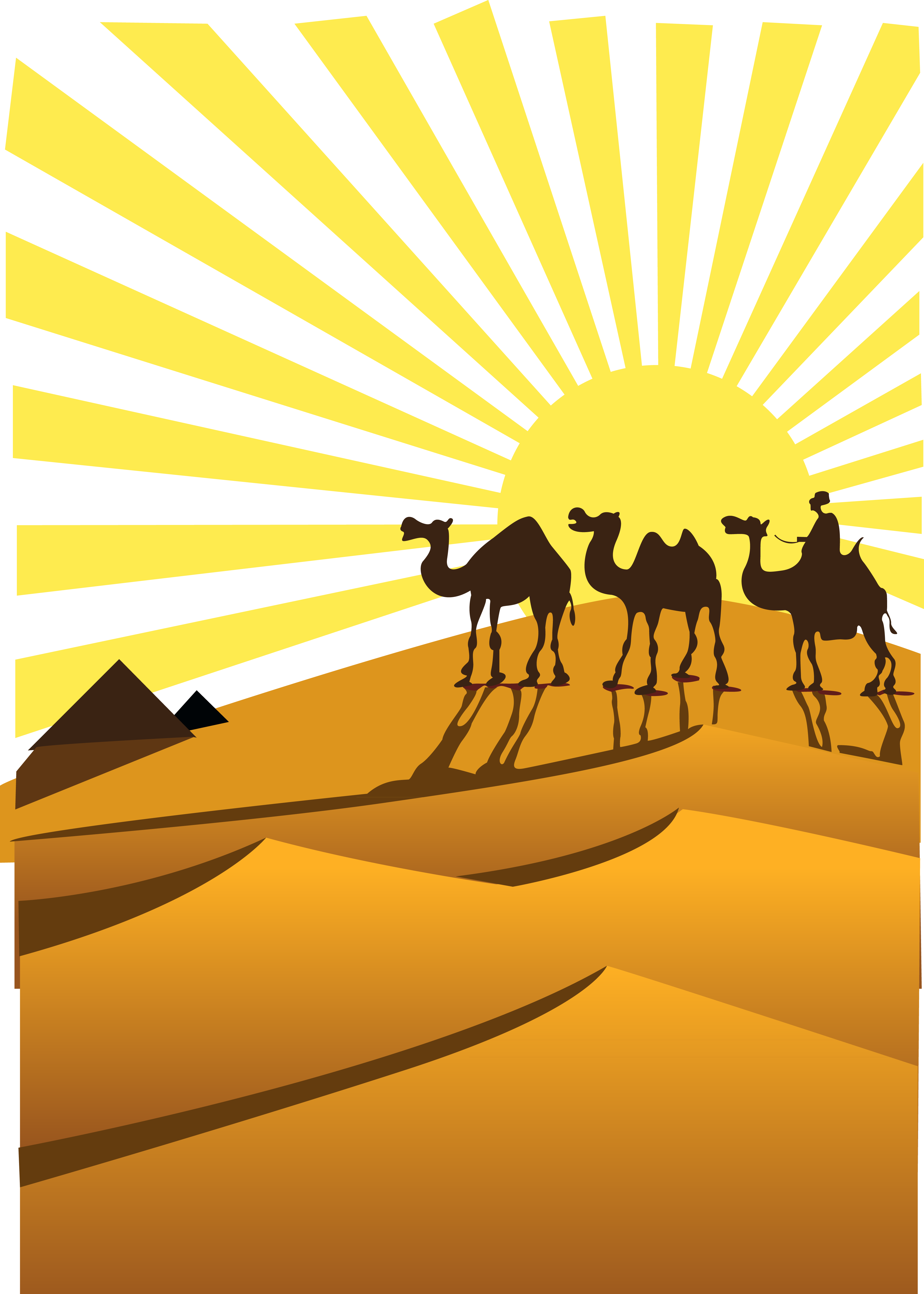 Desert With Camel Clipart.