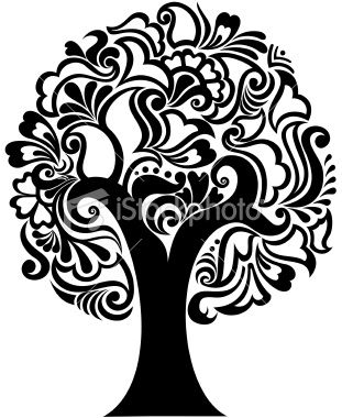 A tree with arabic designs. Created with adobe illustrator.