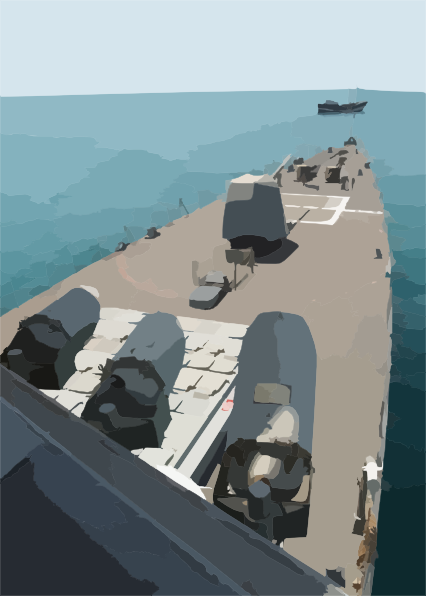Uss Cushing Conducts Mio Operation In The Arabian Gulf. Clip Art.