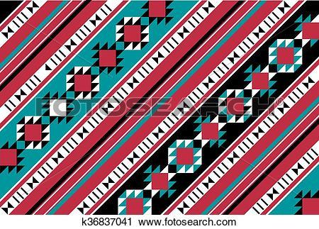 Clipart of Diagonal Pattern Rug Arabian Gulf k36837041.