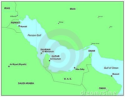 Persian Gulf Countries Royalty Free Stock Image.
