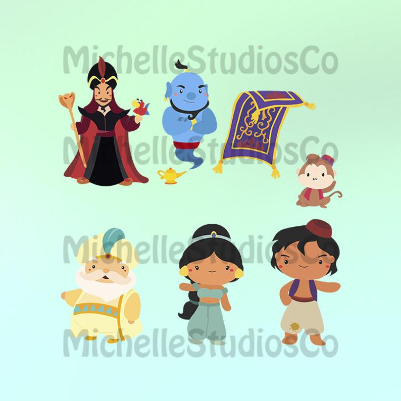 Aladdin Svg, Aladdin Clipart, Arabian Nights Clipart, Princess Jasmine Svg,  Princess Jasmine Decal, Jasmine Svg, Jasmine Clipart, SVG Files.