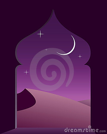 Arabian Night Stock Illustrations.