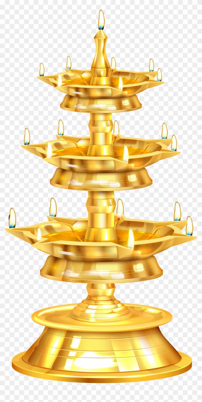 Oil Lamp Clipart Hari Raya.