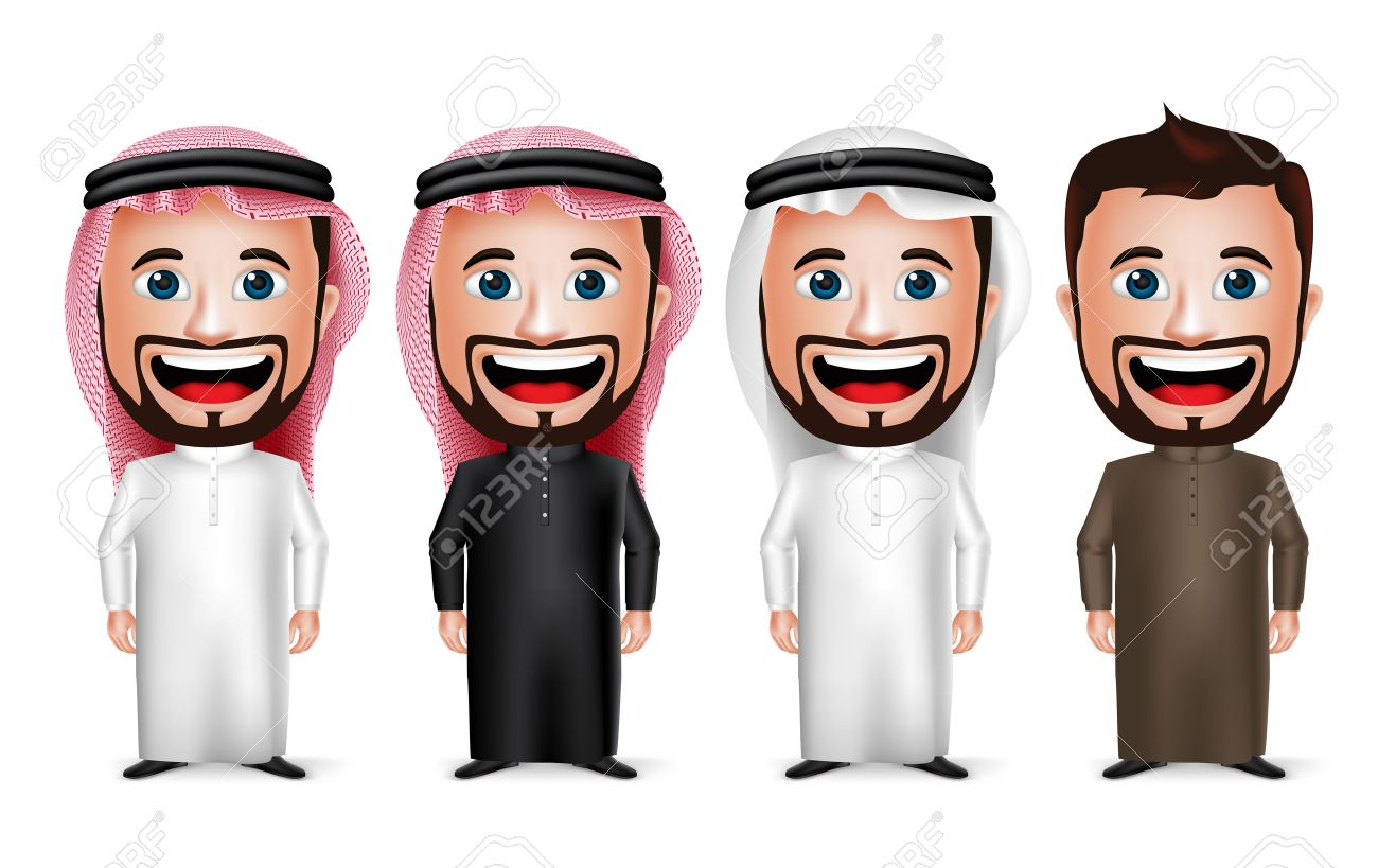 Arabic People Clipart.