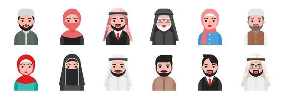 Arab Man Free Vector Art.