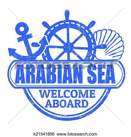Clip Art of Arabian Sea stamp k21541856.