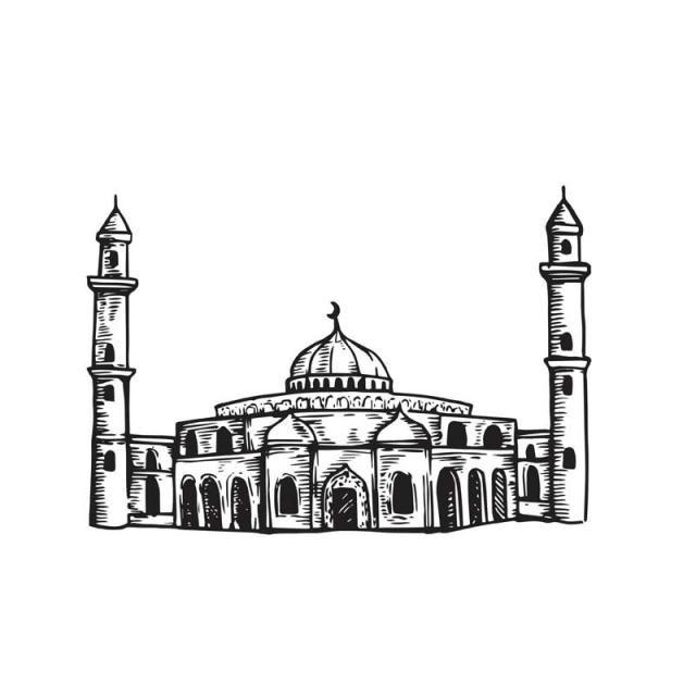 خمر ومن ناحية الرسم رسم بناء مسجد إسلامي, مساجد اسلامية.