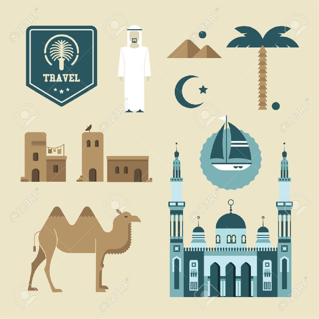 2,558 Arabic Dress Stock Vector Illustration And Royalty Free.
