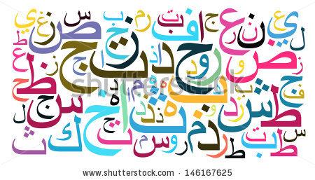 Arabic alphabet clipart.