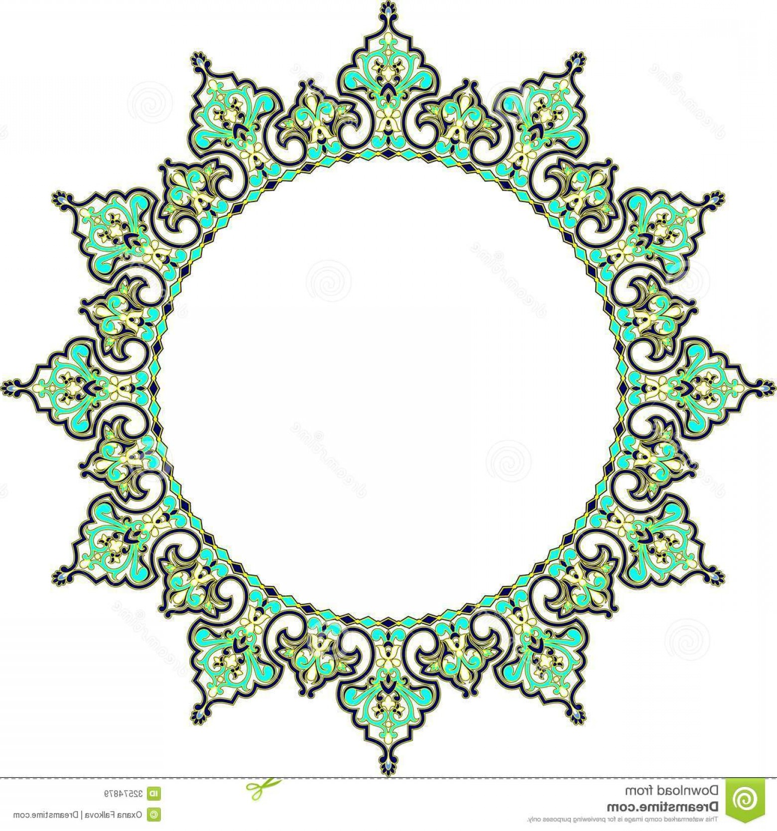 Royalty Free Stock Images Arabic Frame Vector Illustration Circle.