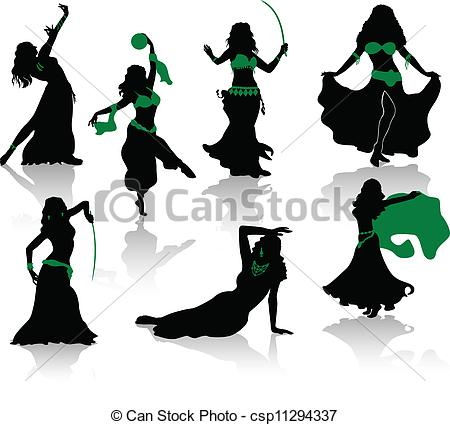 Belly dancer silhouette clip art.