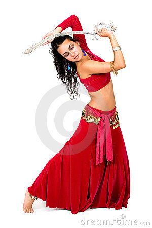 Arabic Dancer With A Sword Stock Image.