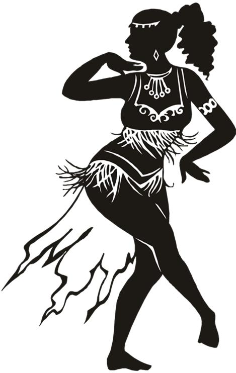 Belly dancing clipart.