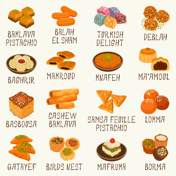 Best Arabic Food Illustrations, Royalty.