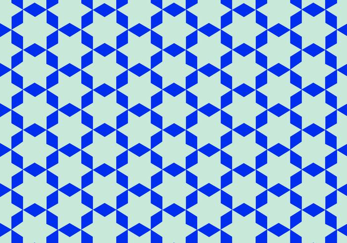 Blue Arabic Pattern Vector.