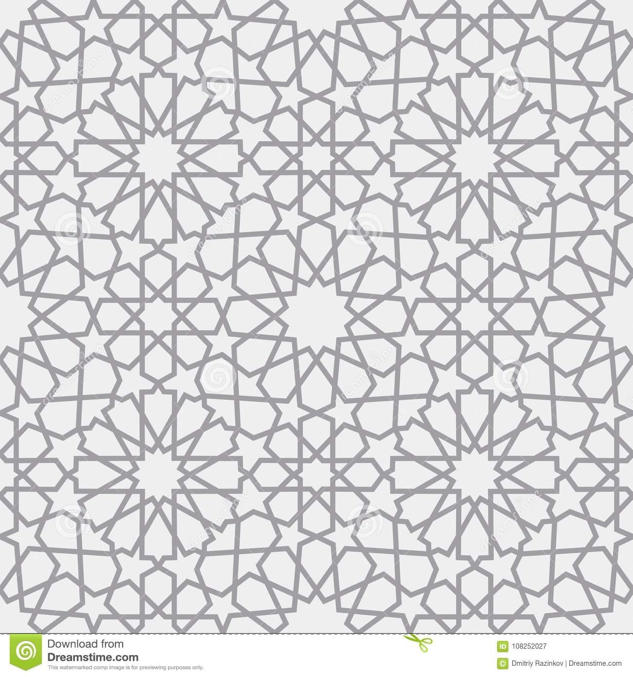 Islamic Pattern . Seamless Arabic Geometric Pattern, East Ornament.