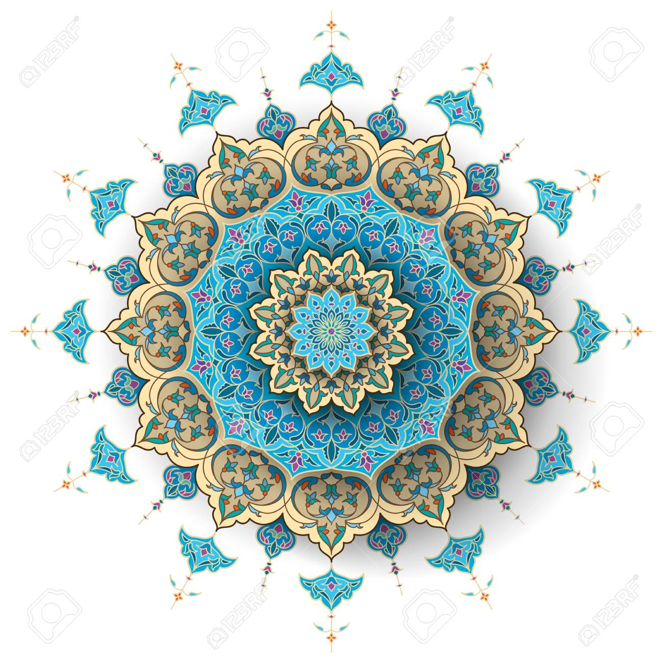 Arabic floral pattern islamic vector background.