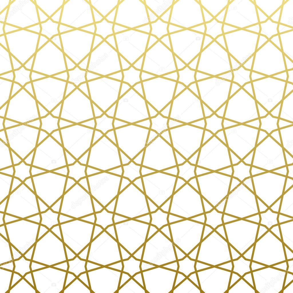 Arabic pattern gold style. Traditional east geometric decorative.