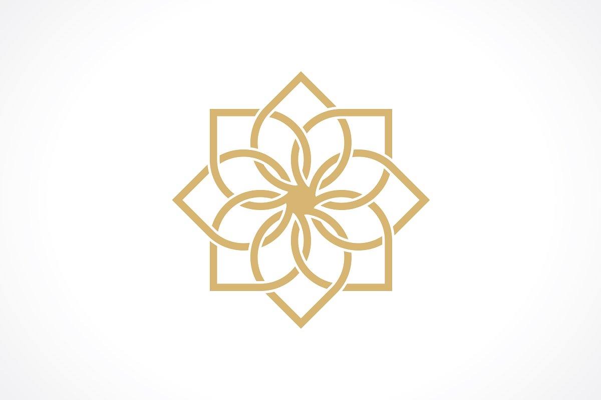 Geometric arabic pattern.