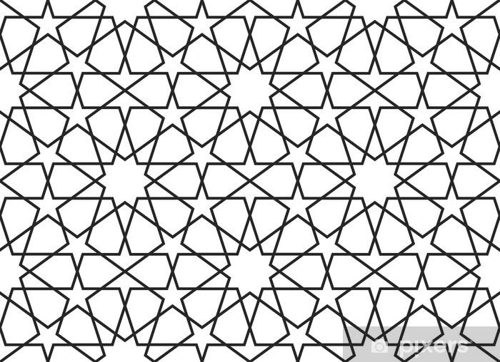 Arabic seamless pattern. Vector ornament Wall Mural.