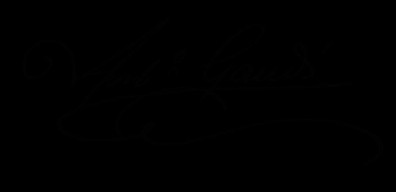Antoni Gaudí's original signature.