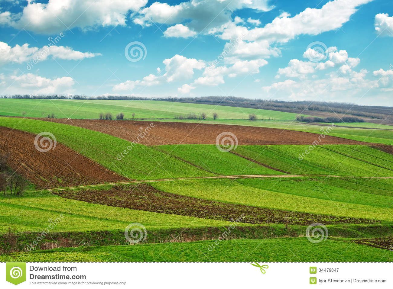 Arable Land Royalty Free Stock Photography.