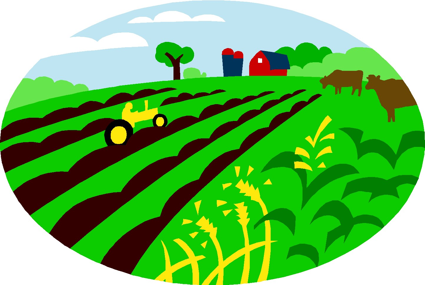 Arable land clipart.