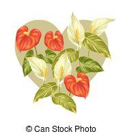 Araceae Vector Clipart Royalty Free. 58 Araceae clip art vector.