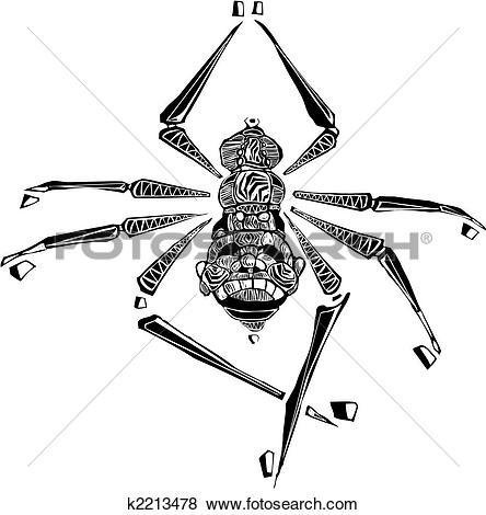 Clip Art of Arachne Spider k2213478.