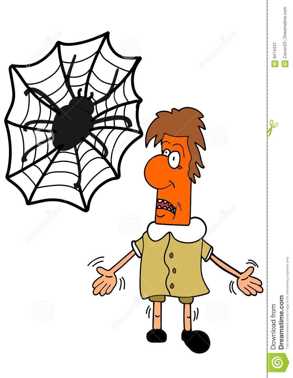 Arachnophobia Stock Image.