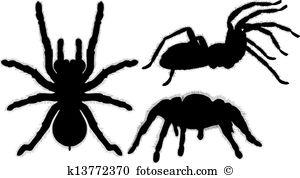 Arachnophobia Clip Art Vector Graphics. 568 arachnophobia EPS.