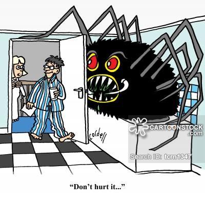 Arachnophobic Cartoons and Comics.
