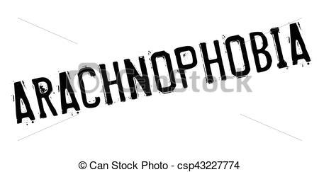 Vectors Illustration of Arachnophobia rubber stamp. Grunge design.