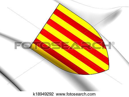 Clip Art of Kings of Aragon Coat of Arms k18949292.