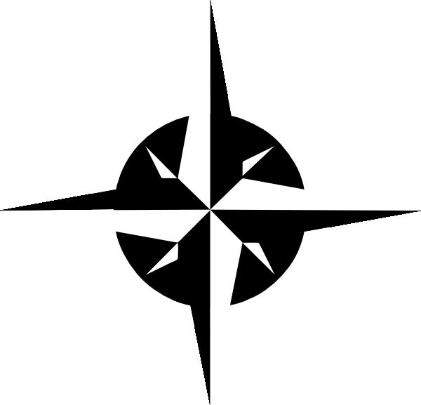 White Compass Rose Clip Art at Clker.com.