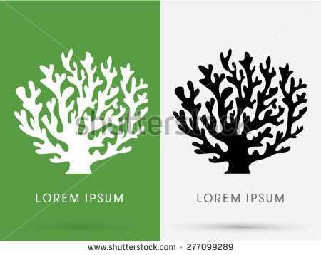 Silhouette Coral Sign Graphic Vector Stock Vector 277099289.