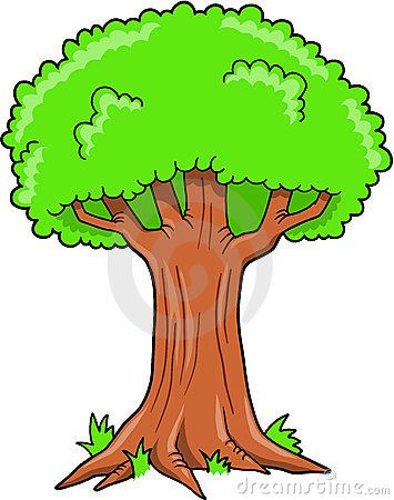 Big Tree Vector Stock Vector.
