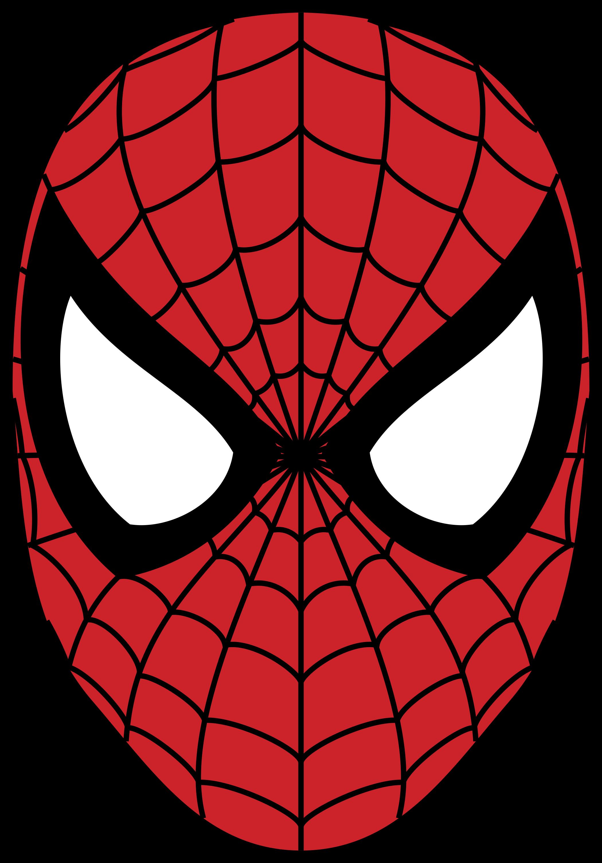 Mascara do Homem Aranha.