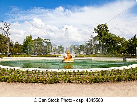 Pictures of Ceres Fountain at Parterre Garden in Aranjuez, Madrid.