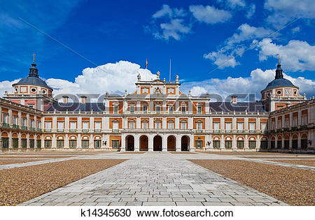 Stock Photography of Royal Palace of Aranjuez, Madrid k14345630.