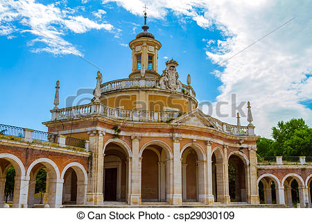 Stock Photography of Church of San Antonio in Aranjuez, Spain.