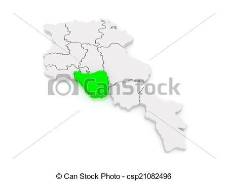 Stock Illustration of Map of Ararat. Armenia. 3d csp21082496.
