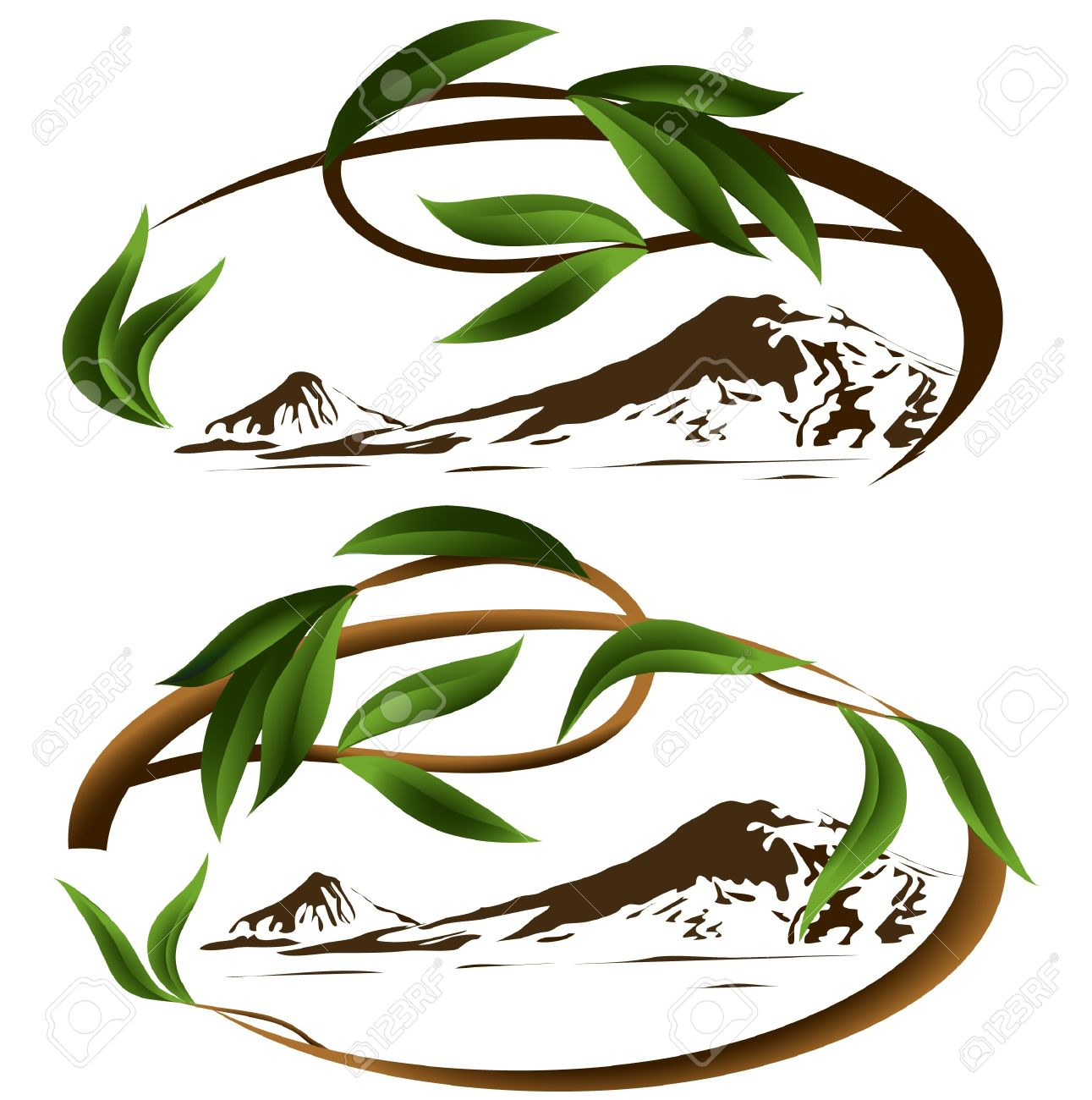 Mountain Ararat Branch Leaf Tree Royalty Free Cliparts, Vectors.