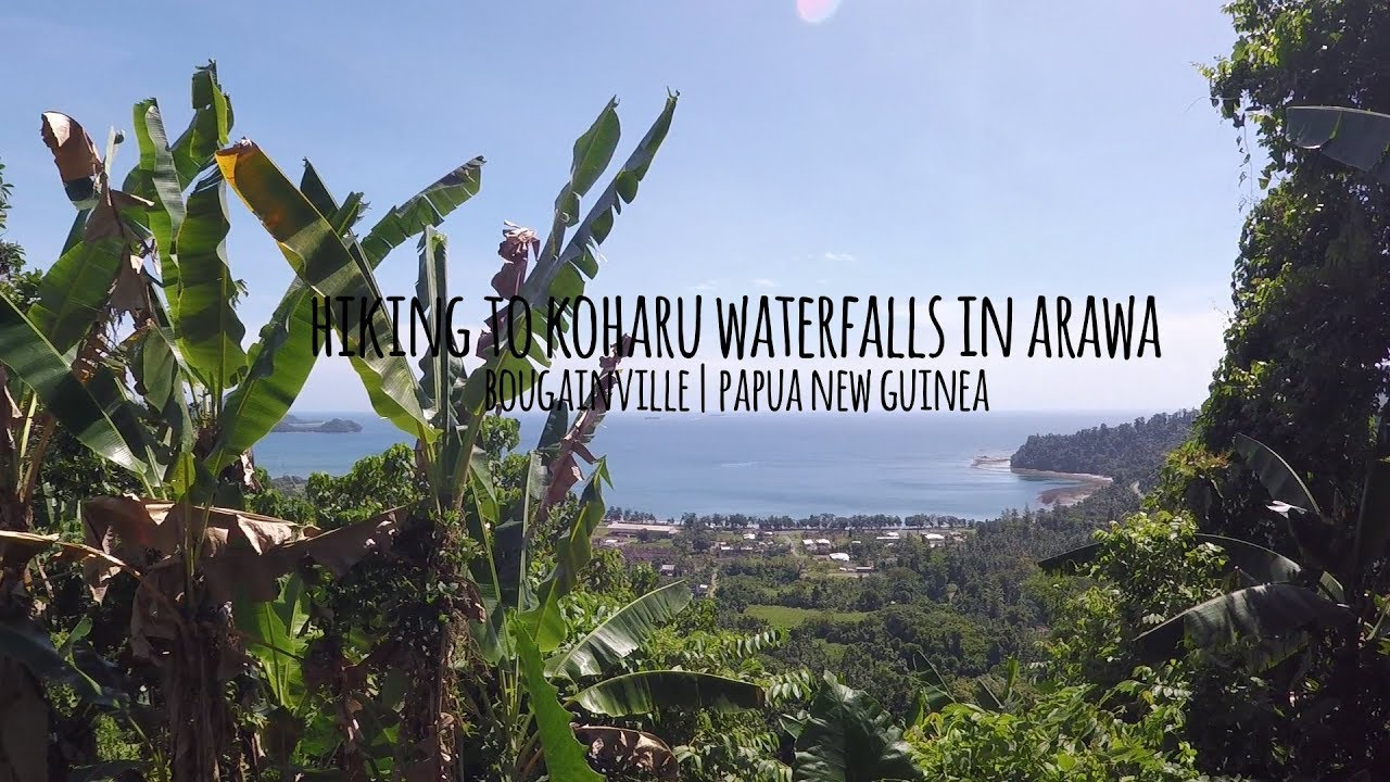 Hiking to Koharu Waterfalls in Arawa, Bougainville.