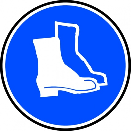 Mandatory Feet Protection Hard Boots clip art clip arts, free.