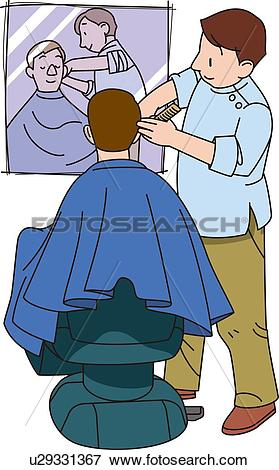 Stock Illustration of Barber, Illustrative Technique u29331367.