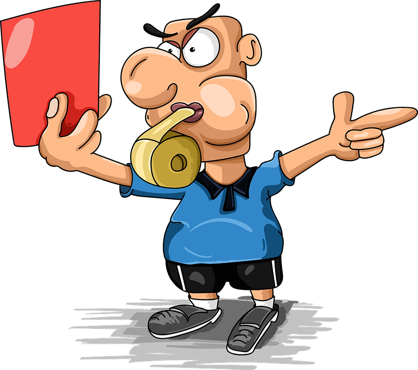 Juiz Futebol Cartão Vermelho O.